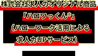 株式会社求人のオリジナル商品「ハロワっくん®」(ハローワーク活用による求人力UPサービス)なら、それは可能です。
